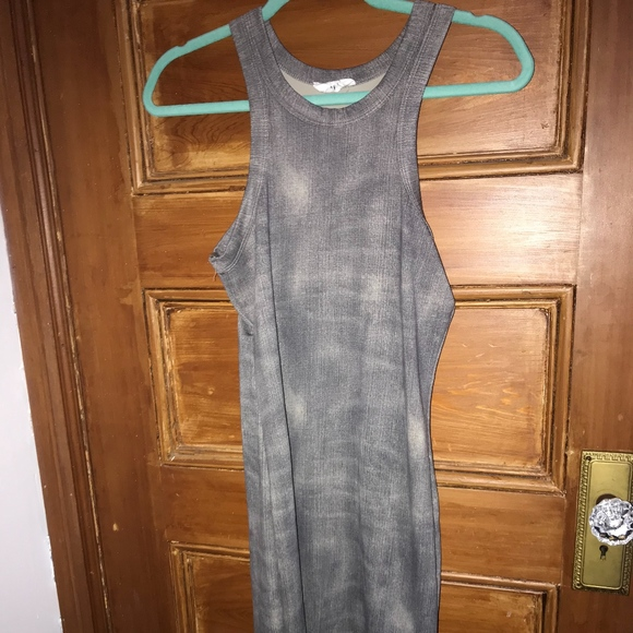 Black Bead Dresses & Skirts - Midi Tight Grey Dress